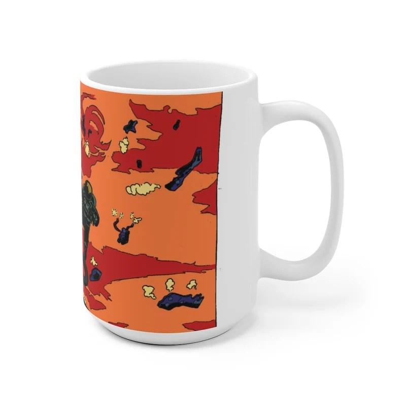 Urban Art Mug 2 sizes 50  Retro custom gift unique mugs image 0