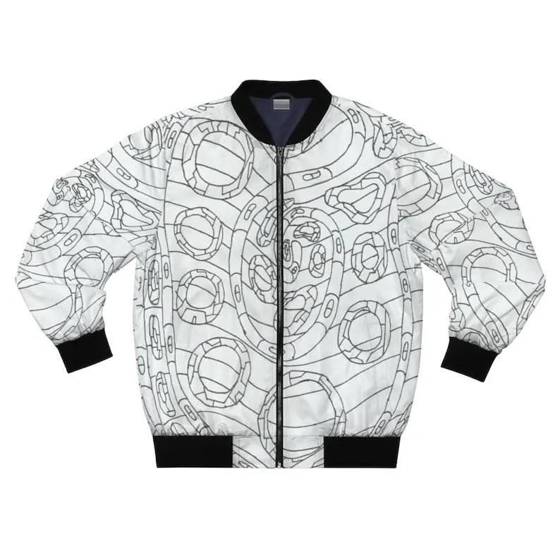 Cool Art Bomber Jacket 17  Retro custom gift aesthetic line image 0