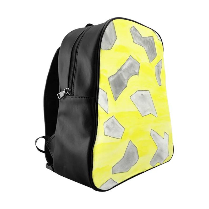 Urban Art PU Leather Backpack 3 sizes 12  Retro custom gift image 0