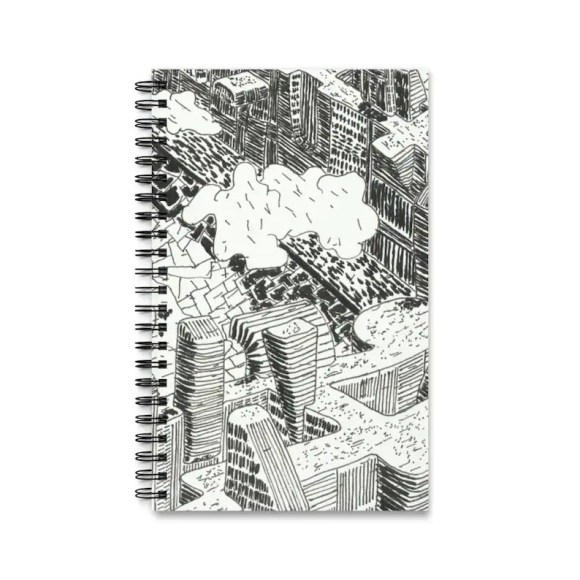 Spiral Journal With Cool Art Cover 9  Retro custom gift task image 0