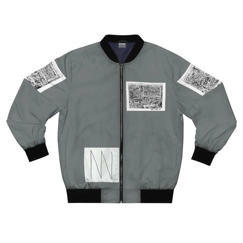 Cool Art Bomber Jacket 18  Retro custom gift aesthetic line image 0