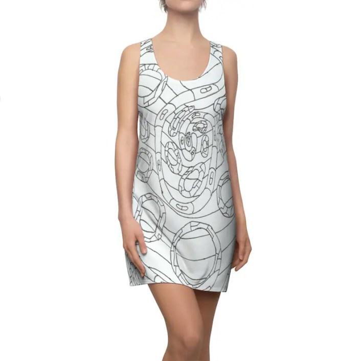 Urban Art Racerback Dress 9  Retro custom gift  dresses image 0
