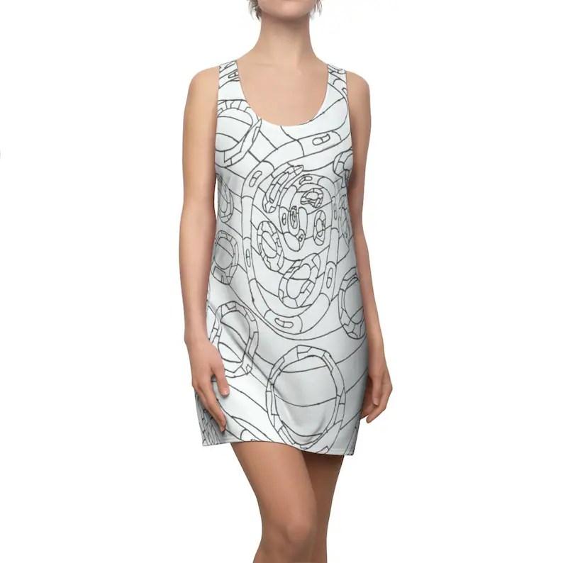 Cool Art Racerback Dress 9  Retro custom gift  dresses image 0