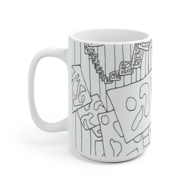 Cool Art Mug 2 sizes 10  Retro custom gift unique mugs with image 0