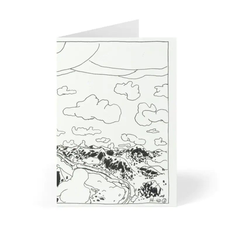 Handmade Urban Art Cards With Envelopes 10  Retro custom gift image 0