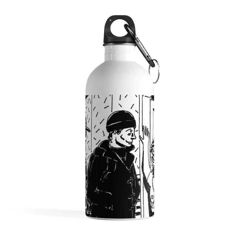Cool Art Water Bottle 1  Retro custom gift pop art line art image 0