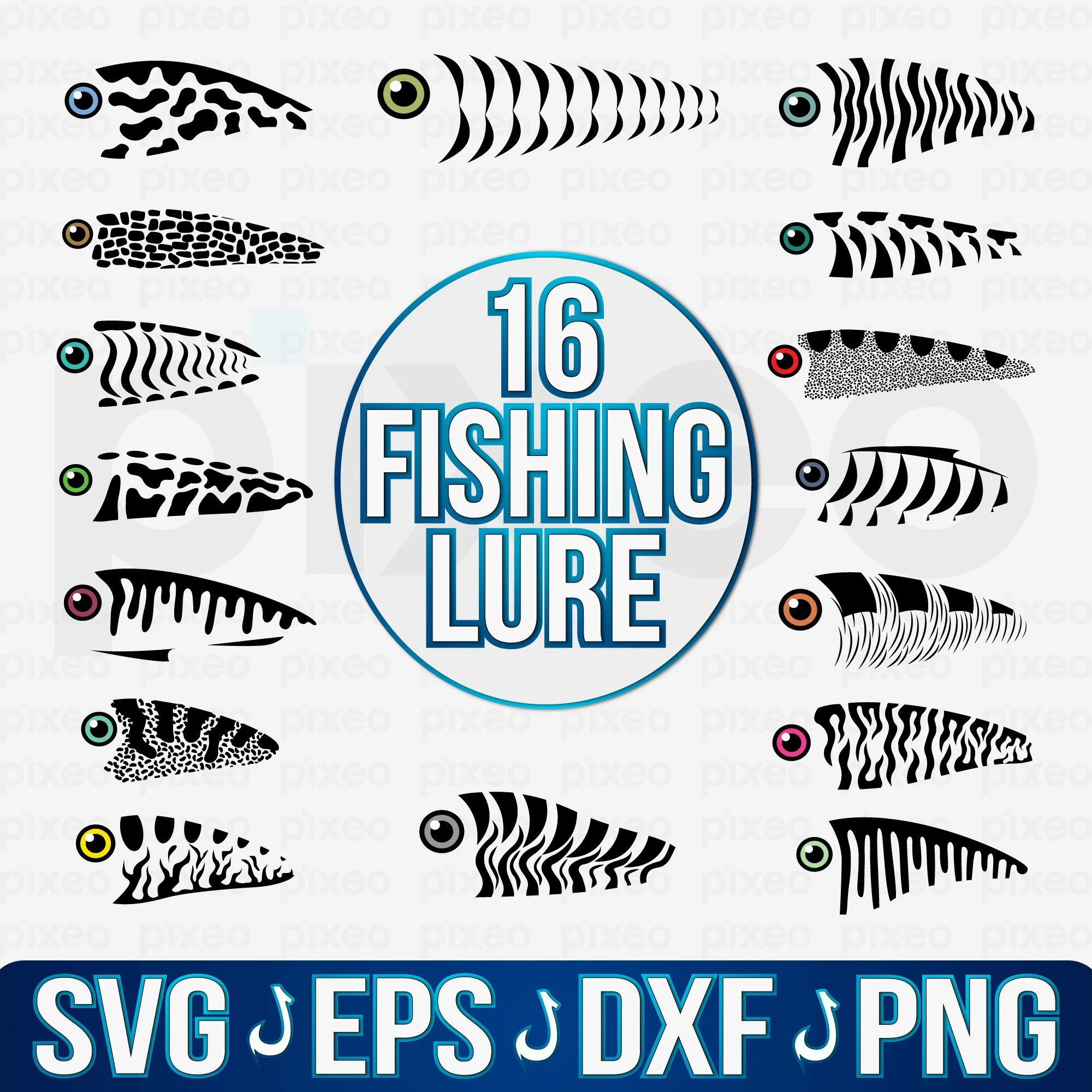 Download The Best 12 Fishing Lure Tumbler Svg Free