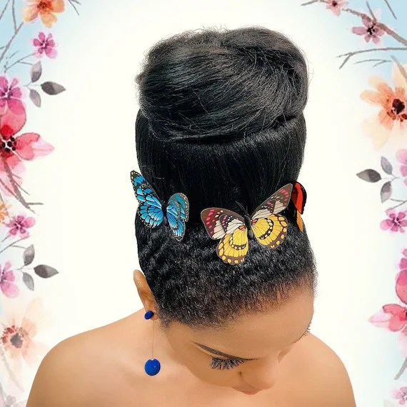 Cristoli Hair Bun Hassana For Natural Hair African Etsy