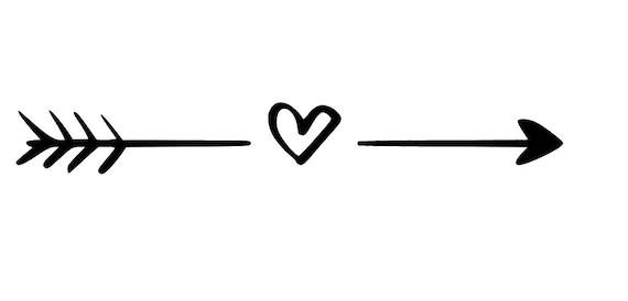 Arrow svg heart svg cute svg love svg arrow with heart | Etsy