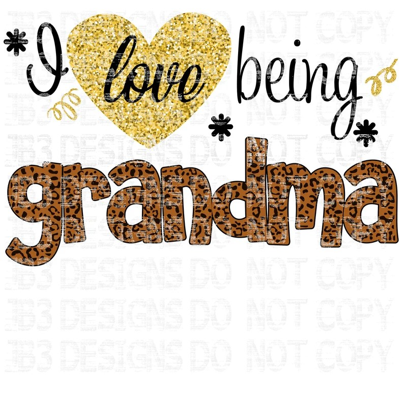 Download I love being a Grandma SVG and PNG Sublimation | Etsy