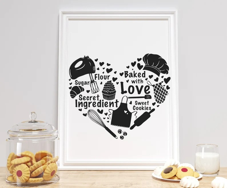 Download Baking svg for cricut Baked with love SVG PNG DXF Kitchen ...