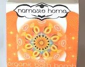 Sacral Chakra Bath Bomb, Citrus,  Comforting Orange USDA Organic Bath Bomb Large 160g by Namaste Home, Gift, Mother's Day, Birthday, Spa Day