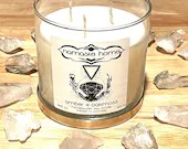 Amber + Oakmoss, Large 3 Wick Fall Candle, Nature Inspired Aromatherapy Candle, Cozy Cabin Candle by Namaste Home