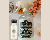 Reusable Glass Cleaning Spray Bottle w/ 1 Rose Oil + Sandalwood Multipurpose Cleaning Concentrate by Namaste Home
