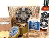 Virgo Gift Bundle, Spa Set, Bath Bomb, All Natural Spa Day Set, Handmade Bar Soap, Lotion, Candle, Zodiac Themed Aromatherapy Gift Set