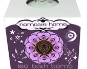 Leo Bath Bomb, Leo Gift, Fizzy Bath Bomb, Zodiac Bath Bomb, Energy Activating Bath Bomb by Namaste Home