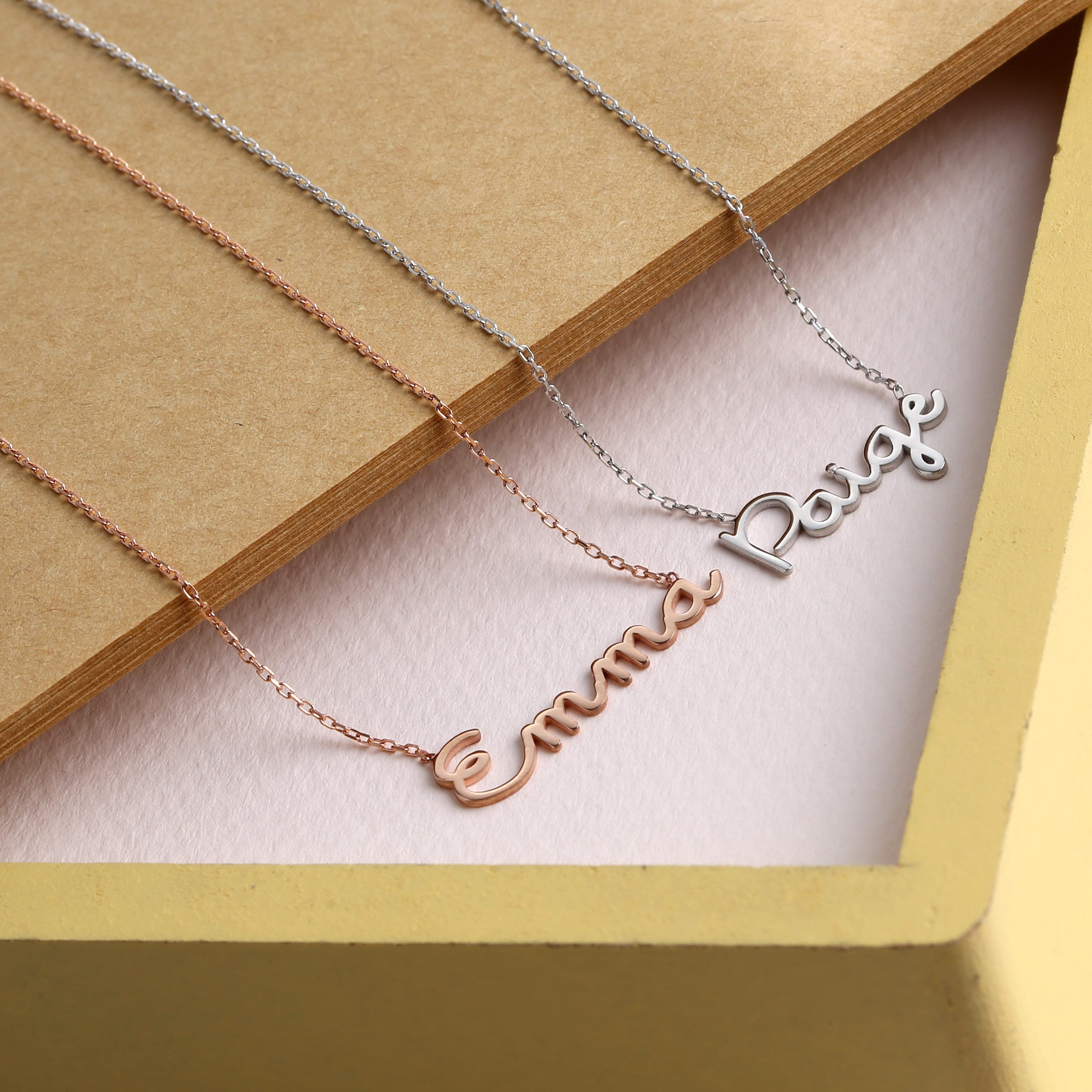 Personalized Name Necklace Gold Name Necklace Silver Custom image 1