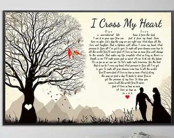 i cross my heart art etsy