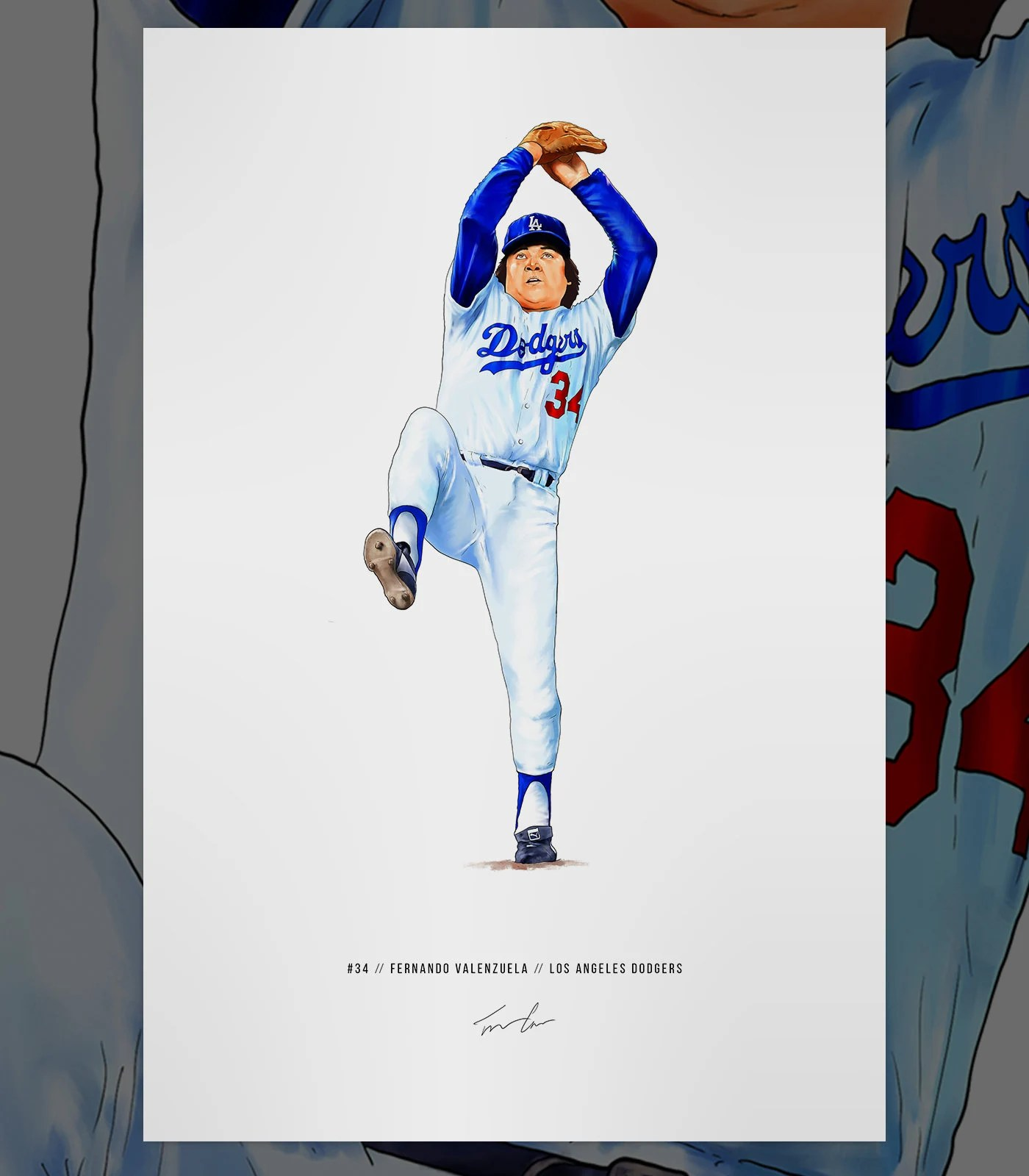 dodgers poster etsy