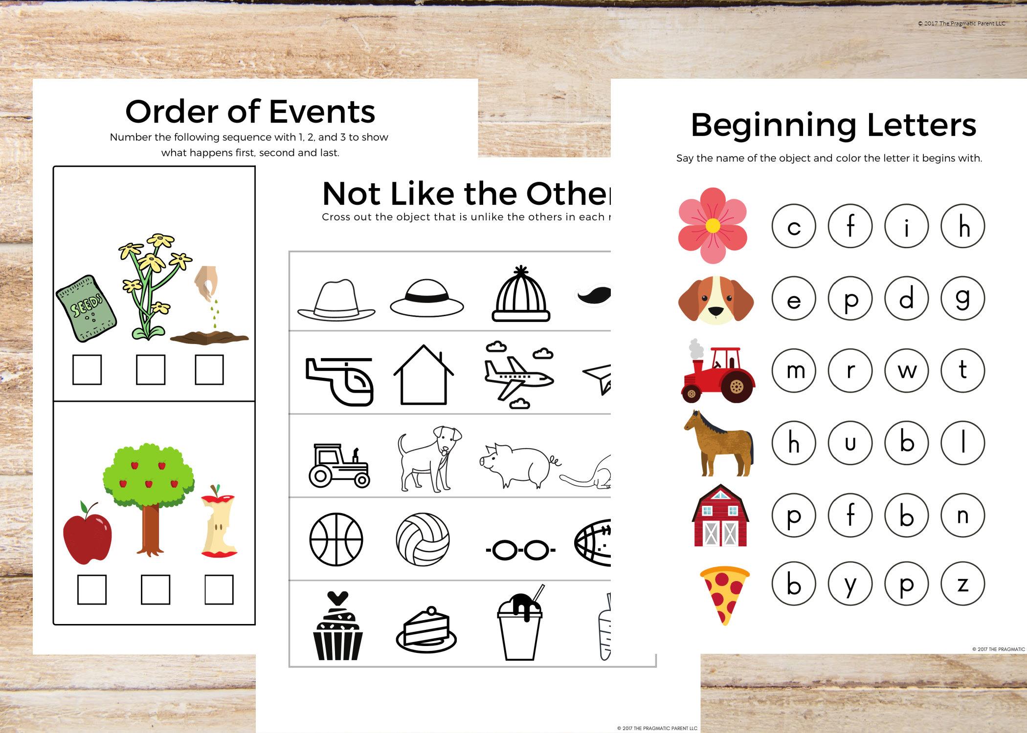 20 Prek Kindergarten Worksheet Set Shapes Rhyming Words