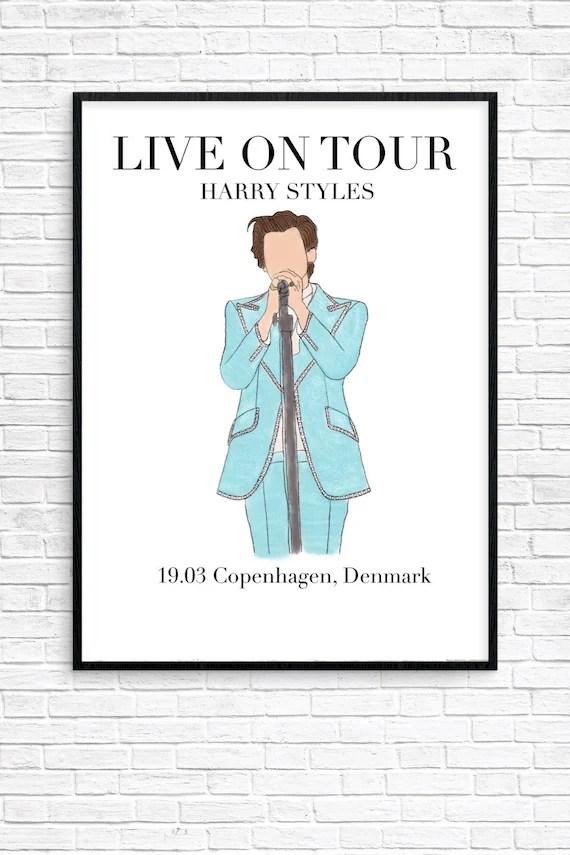 harry styles live auf tour 19 03 kopenhagen danemark poster