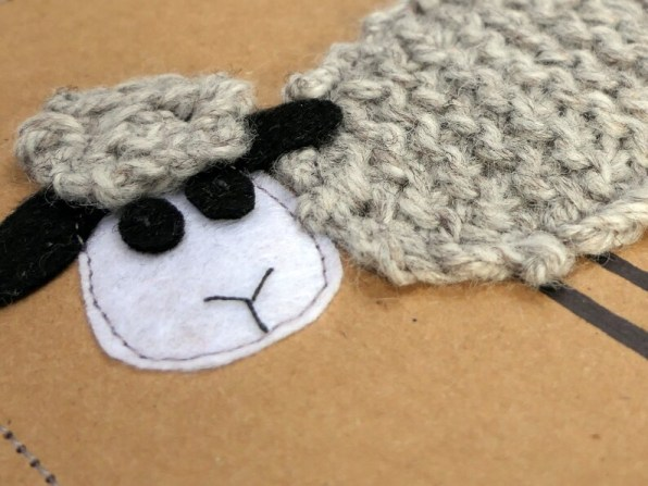 CuteCardsByB on Etsy - Beautiful, unique, hand knitted cards.  Made from felt, aran wool and recycled card.