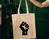 Black Lives Matter Tote Bag, Social Justice, Handmade Tote, Eco-Friendly Tote Bag, Travel Tote Bag, Cotton Tote Bag