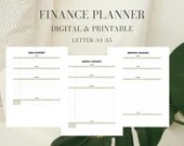Finance Planner, Budget Tracker, Budget Planner, Finance Tracker, Finance Planner 2020, Digital Planner, Printable Planner