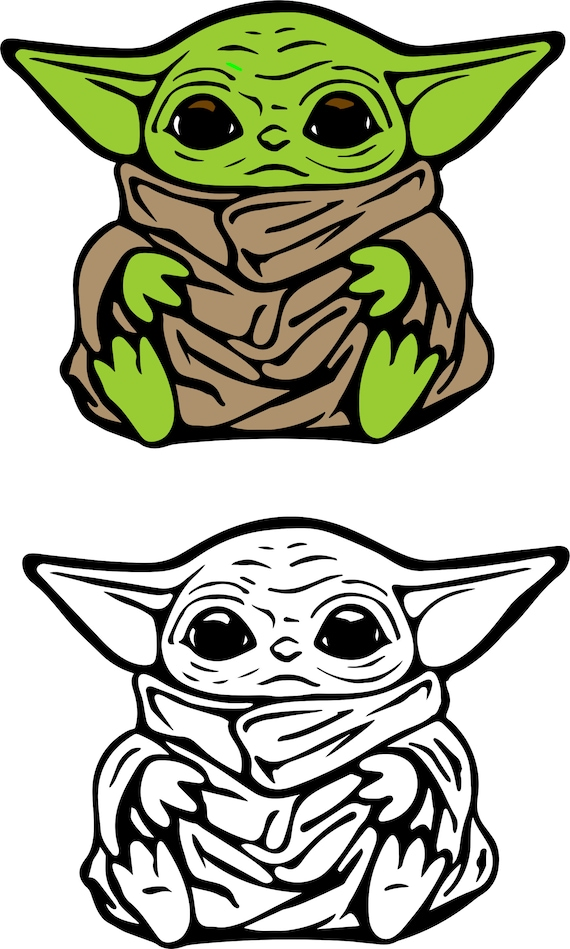 Baby Yoda SVG for Cricut - Create your own Baby Yoda products!