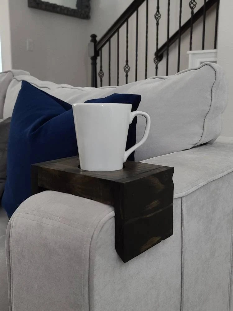 sofa cup holder etsy