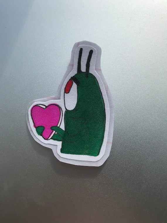 Plankton Holding A Heart : plankton, holding, heart, Plankton, Sticker