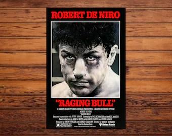raging bull poster etsy