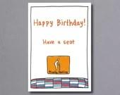 Birthday Seat (blue) – birthday card