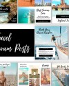 Travel Instagram Post Templates Canva Instagram Template Etsy