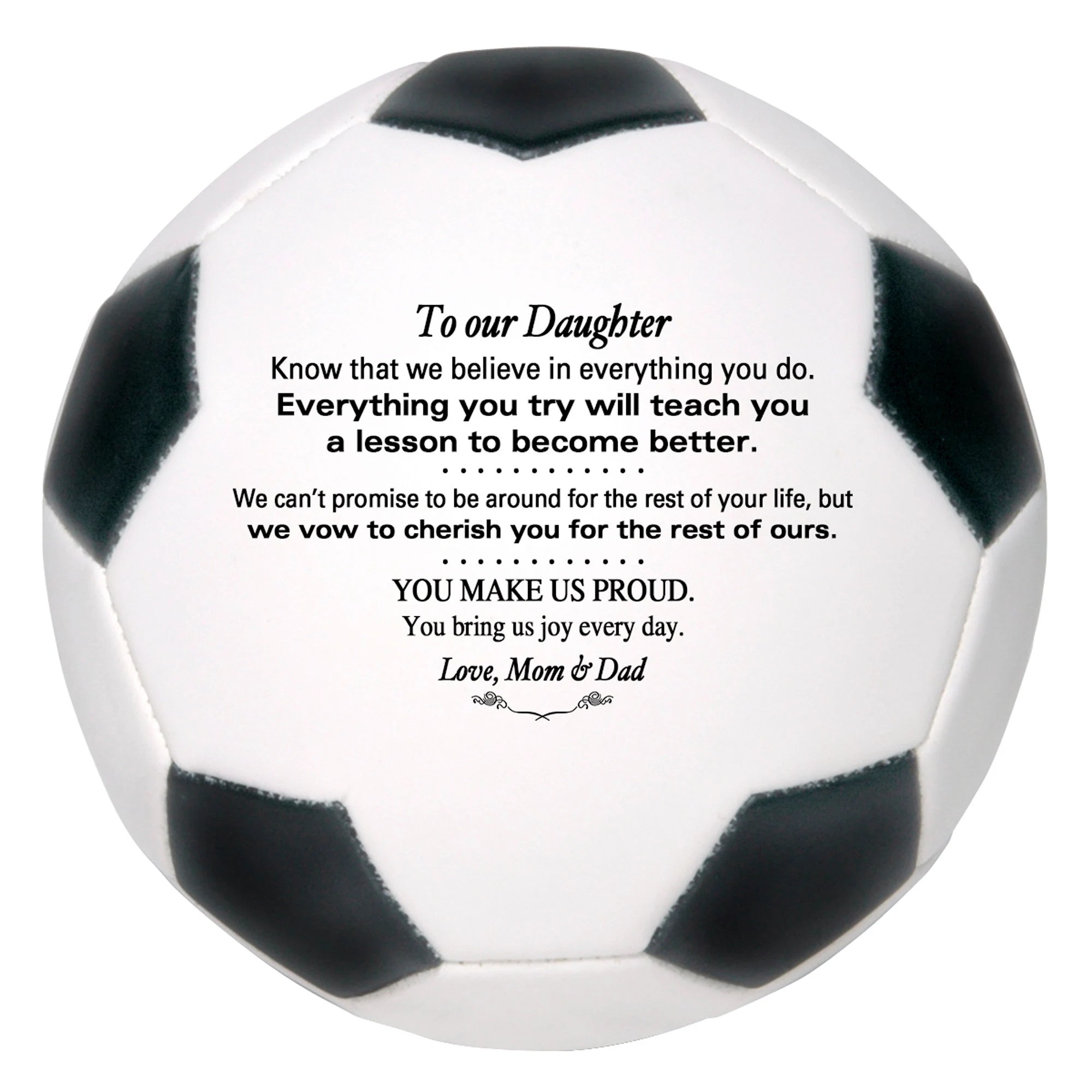 Personalized Custom Soccer Ball To Our Son Grandson Daughter image 2