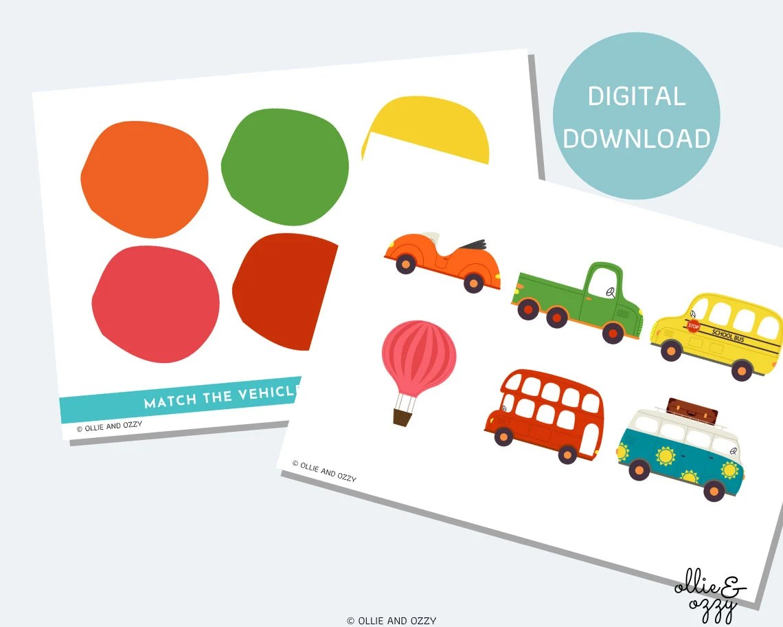 Printable Colour Matching Worksheet Busy Book Insert Eyfs