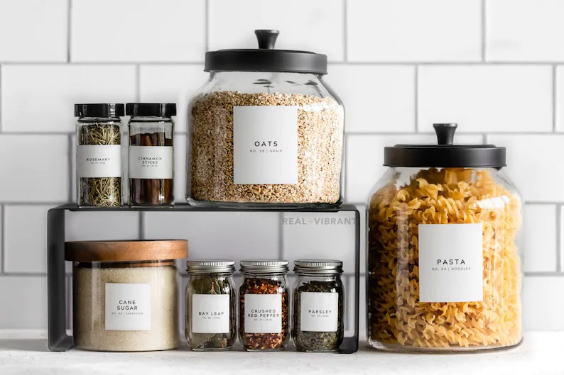 Spice & Pantry Label Bundle Minimal Collection  Water image 0