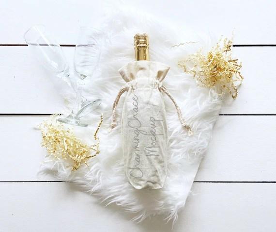 Vodka bottle mockup by smarty mockups on @creativemarket. Champagne Bottle Mockup Product Mockup Wine Bag Photo Etsy