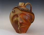 Woodfired Face Jug