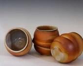Swirled Pottery Handless Tumbler