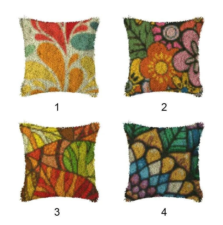 latch hook kits make your own cushion cartoon lattice pre printed canvas crochet pillow case latch hook cushion cover hobby crafts