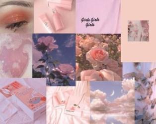 Soft pink wall art Etsy