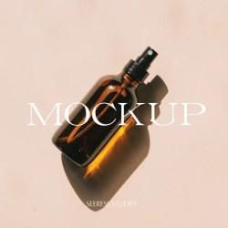 Amber Bottle Mockup Branding Mockup Product Mockup Cosmetic Etsy