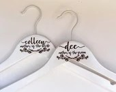 Mother-of-the-Bride Hanger | Mother-of-the-Groom Hanger | Present for Mom | Gift for Mother-in-Law | Mother of the Bride | Engraved Hanger