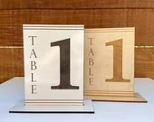 Engraved Wood Table Numbers | Wedding Tables | White Wood Numbers | Unique Table Number | Wedding Decor | Wedding Signage | Table Number