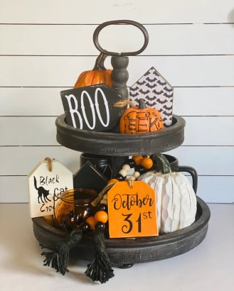 Halloween Tags/ Wooden Tags/ Tiered Tray Decor/ Halloween image 4