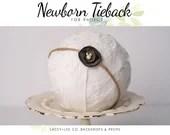 Newborn Tieback Olive Green | Newborn photography prop |  Newborn headband |  olive green| Flower Headband | Baby Headband | Neutral