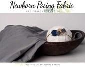 Grey Newborn Posing Fabric & Tieback Set   Grey Posing Fabric    Newborn headband   Fabric wrap    Newborn wrap set   tieback and wrap
