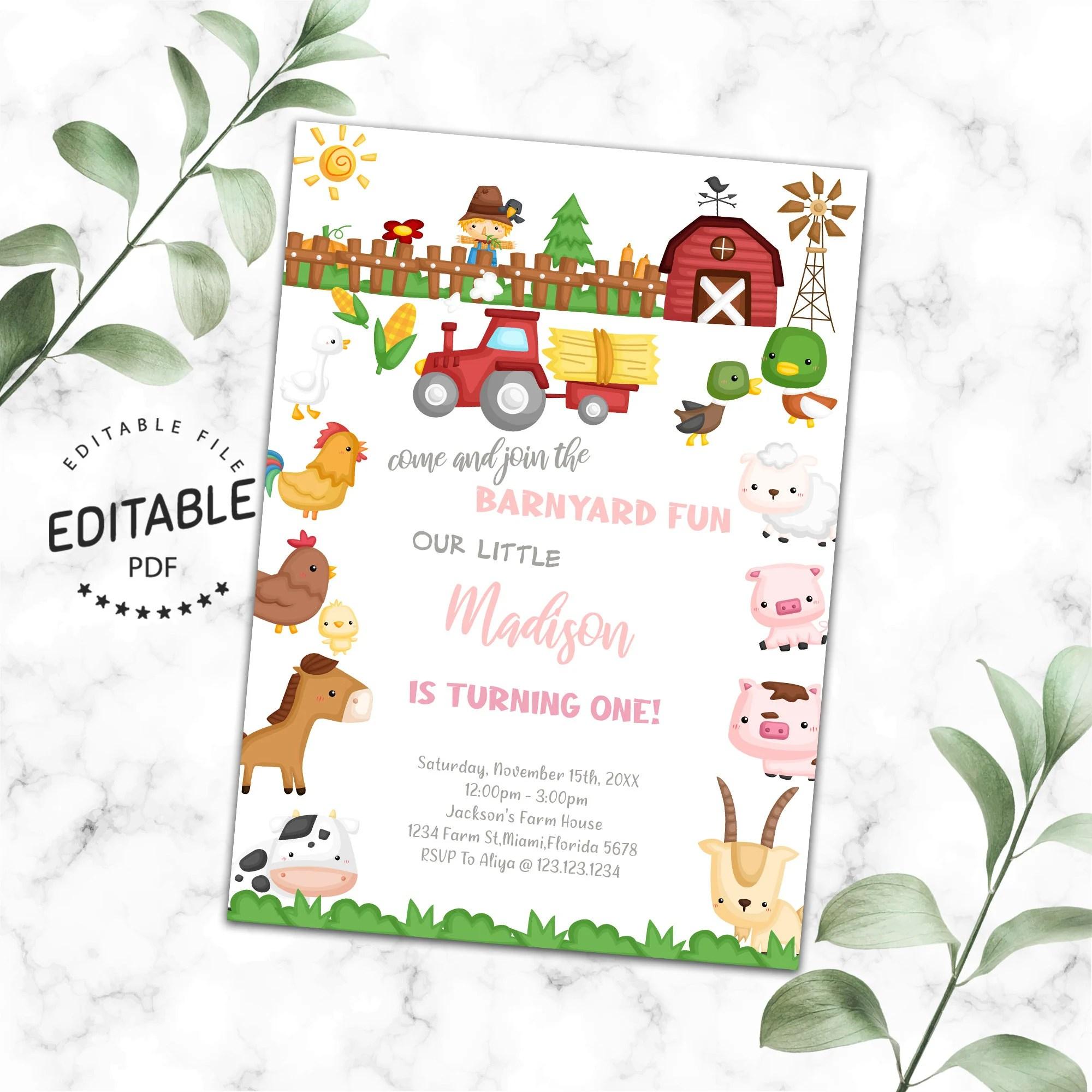 farm invitations etsy
