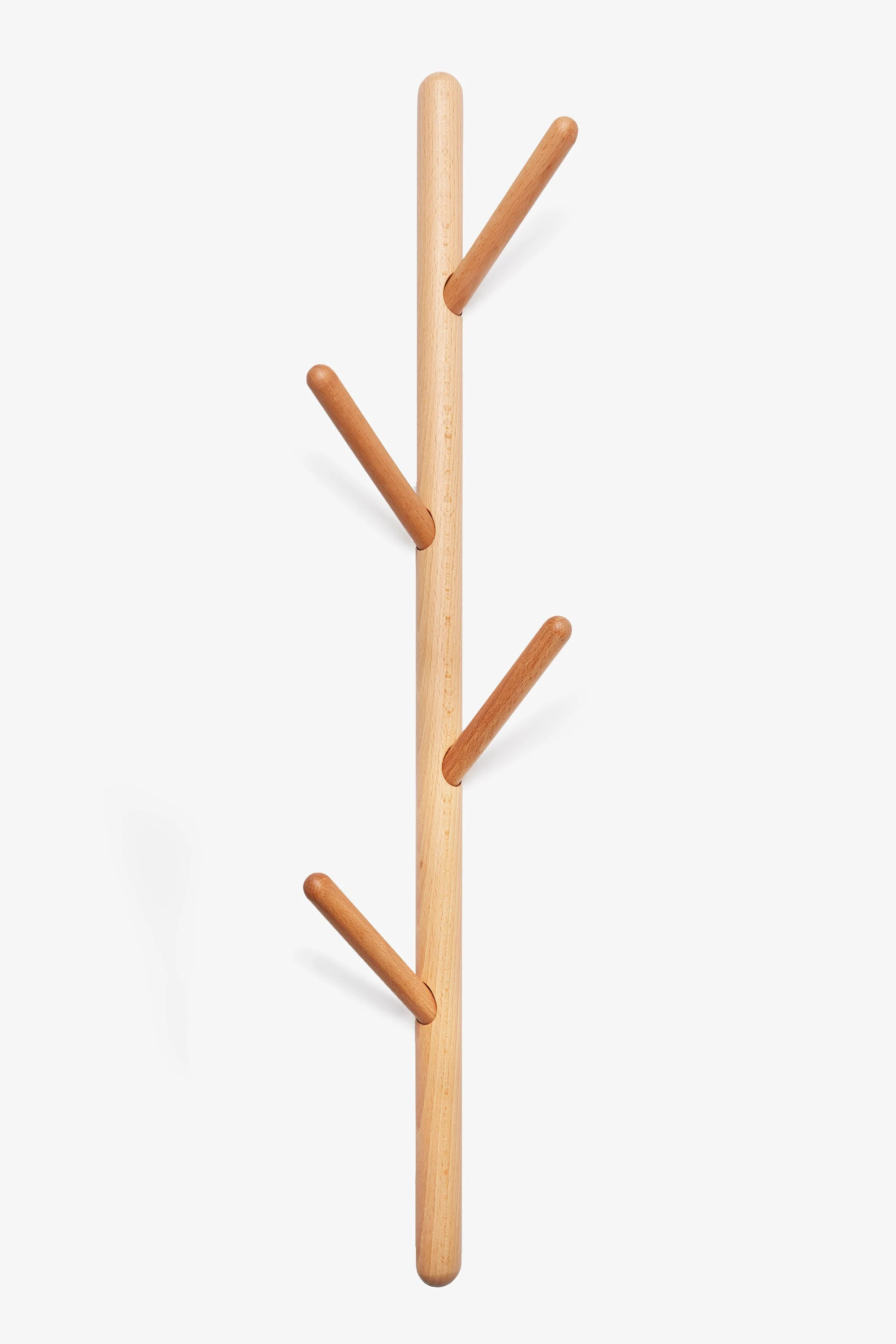 tree branch wall mounted vertical wooden coat rack wood wall etsy